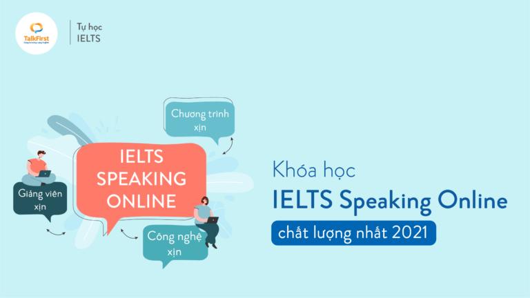 khóa học ielts speaking online uy tín