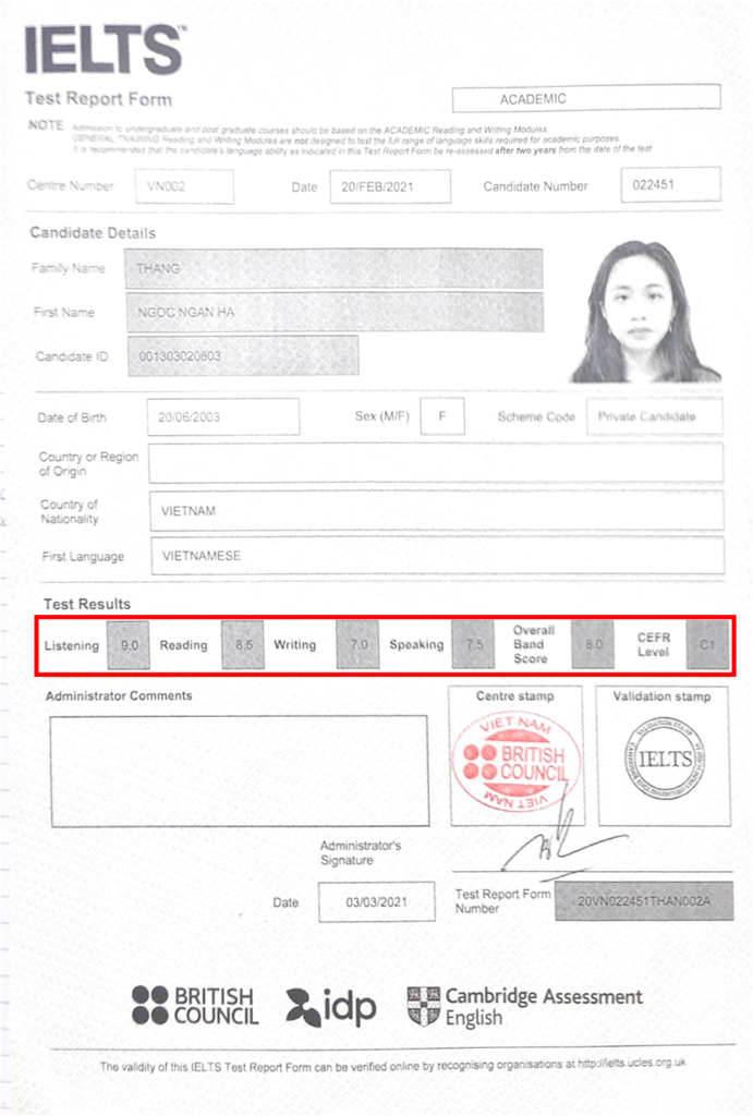 Kinh nghiệm luyện thi 7.5 IELTS Speaking