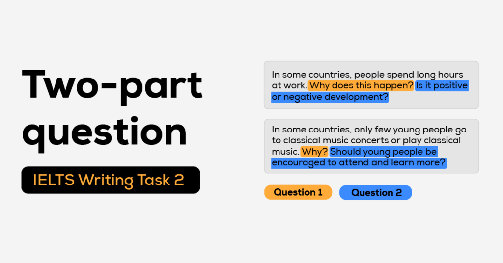 Cách viết dạng Two-part Question
